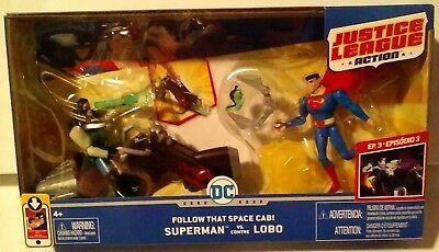DC Comics Justice League Action Follow That Space Cab! Superman vs Lobo New MISB