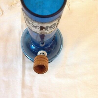 Vintage blue tobacco Hookah Bong  pipe Unused Rare Sarah's Family 8 inch 1977