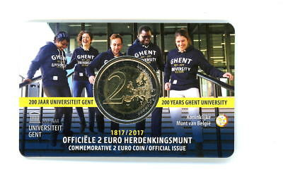 "2 Euro Coin-Card Belgien 2017 ""Universität Gent"""