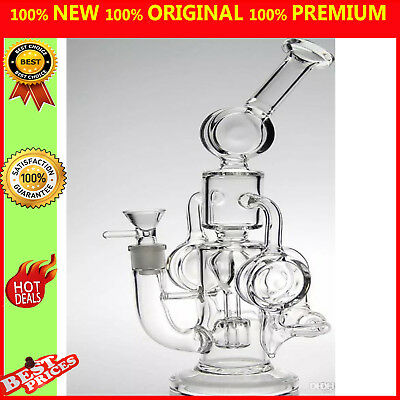 Cyclone Helix water pipe Such an intricate double Recycler glass bong hookahs