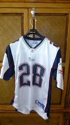 New England Patriots NFL Reebok On-Field Jersey  28 Corey Dillon White Free  S d996a35dd