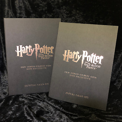 Harry Potter Crystal Cards AND Metal Card Set SDCC RARE 2009 Half Blood Prince