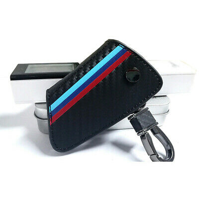 ///M Carbon Fiber Leather Remote Key Cover FOB Case for BMW X1 X5 X6 5 7 Series