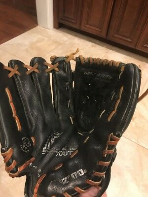 "Mizuno MVP Youth Glove 11.5"" GPL 1150D Left hand thrower LHT Black Leather 1150D"