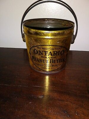 Antique Ontario Brand Peanut Butter Advertising Tin