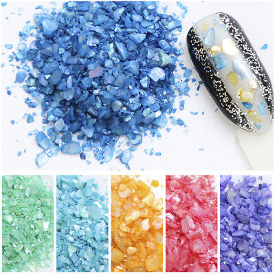 Shell Crushed Stones Gravel Flakes Marble DIY Manicure Nail Art Decor