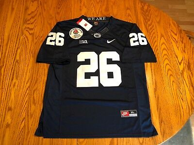 sale retailer de4ad a8f67 SAQUON BARKLEY PENN State Football Jersey #26 Blue Men's XL Stitched NWT