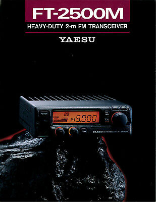 Yaesu Ft-2500M Heavy Duty 2-M Fm Transceiver 4 Pages Options Specifications