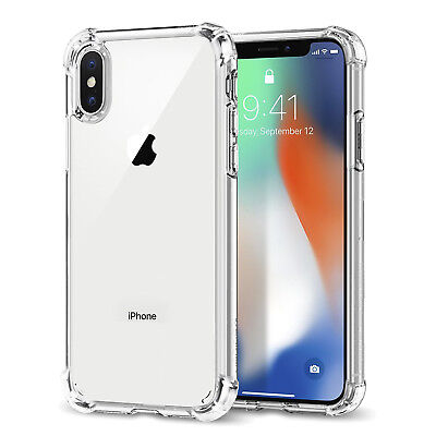 Case For iPhone XR/XS/XS MAX  8 7 Plus Clear Soft TPU Case Silicone Protective