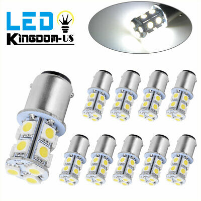 10x BA15D Super White 13SMD LED Light Bulbs Marine Boat RV Camper 1142 1076