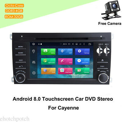 """7"""" Android 8.0 Touchscreen Car Stereo GPS Wifi Radio In Dash For Cayenne+Camera"""