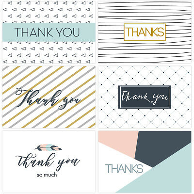 30PCS Thank You Cards Set Greeting Cards Notes With Kraft Envelopes And Stickers