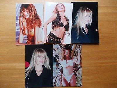 "Lot De 5 Photos Claudia Schiffer 15 X 10 Cm  6 "" X  4 """