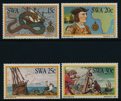 South West Africa 491-4 MNH Map, Ship, Dias, Olaus Magnus, Sea Moster
