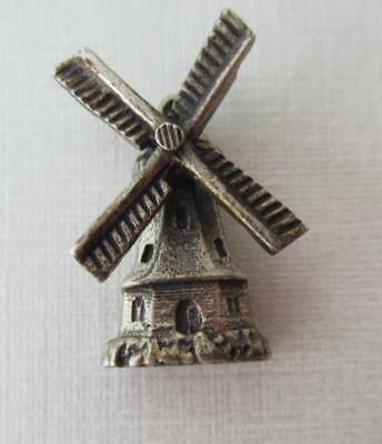 Vintage Silver MOVEABLE Holland Netherlands DUTCH WINDMILL Charm