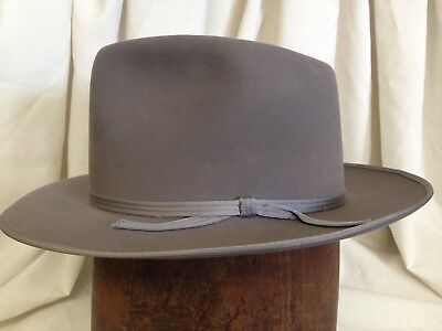 20fbb7f9209 Vintage 1940s Champ Featherweight Kasmir Finish Mens Gray Fedora Hat -Size  6 7 8