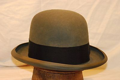 72346003137be Fedora Charcoal Stetson Royal De Luxe Vintage Hat with Black Band -- Size 7  1
