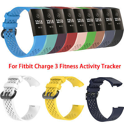 Fashion Sports Wrist Band Straps for Fitbit Charge 3 Fitness Activity Tracker