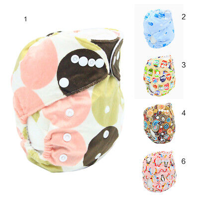 1Pc Baby Cartoon Snap Button Washable Urine Pants Adjustable Nappy Cloth Diaper