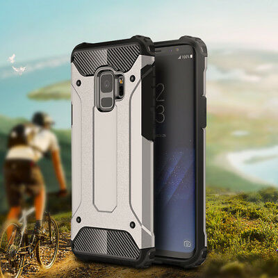 For Samsung S8+ S9 Plus Note 9 8 Hybrid Armor Shockproof Rugged Heavy Duty Case