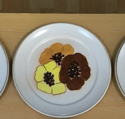 "EXCELLENT CONDITION: Joblot of 6  x Denby 'Pot Pourri' dinner plates 10"" / 25cm"