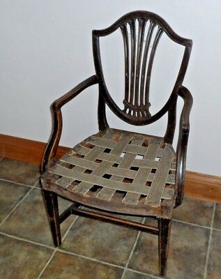Antique Hepplewhite Carver Style Dining Chair Project