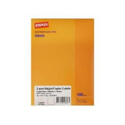 Staples 100 sheets A4 Blank White Paper Printable  Laser Inkjet Copier 210x297mm