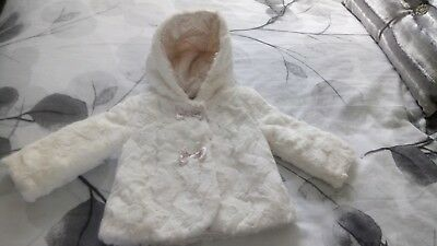 Tu Baby Girls Faux Fur Coat 6-9 Months New
