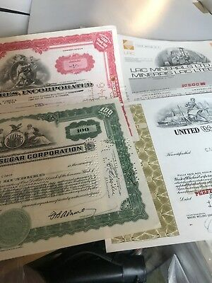 Lot Of (4) Industrial Stock Certificates