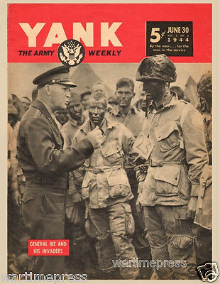 5 New Postcards, YANK - General Ike & His Invaders, D-Day Paratroopers