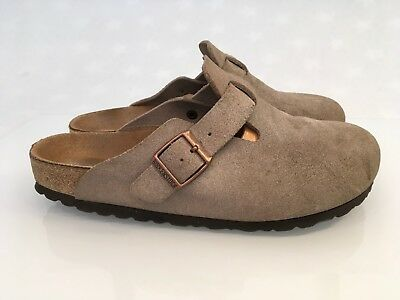 89fe6056fe7be0 BIRKENSTOCK BOSTON WILDLEDER Clogs Hausschuhe Pantoletten Gr 38 ...
