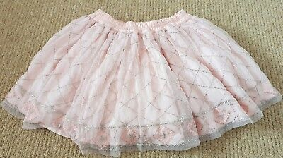 Marks and spencers pink embellish mesh skirt  age 3-4 years Excellent condition
