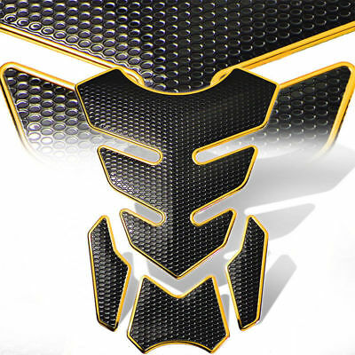 Gold Motorcycle Gas 3D Fuel Oil Tank Pad Protector Decal Sticker Universal New