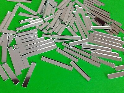 Mosaic Mirror Tiles - 2mm Thickness 100 pieces various lengths.