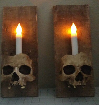 Grunge Skulls - Wall Sconce Set - Halloween