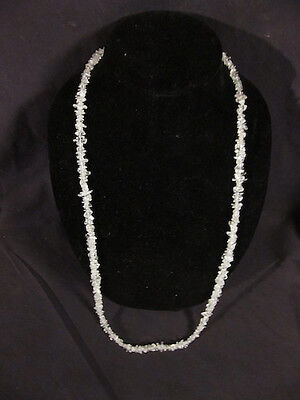 "MIB NOS vintage Genuine Quartz Crystal Necklace 36"" original box 1987 avon"