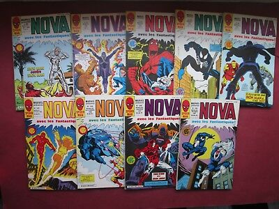MARVEL LOT 9 NOVA N°100 à 109 (sauf 107) SPIDERMAN SURFER D ARGENT QUASI NEUF