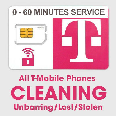 T-Mobile USA Bad IMIE/ESN Clean Service Unbar Remove Blacklist -Lost/Stolen Only