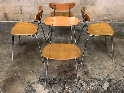 Rway Mid-Century Modern Dining Chair Stackable ~ Set Of 4