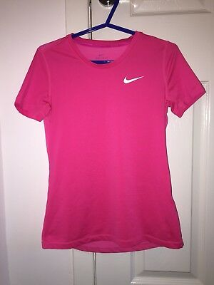 Girls Pink Nike DRI-FIT top