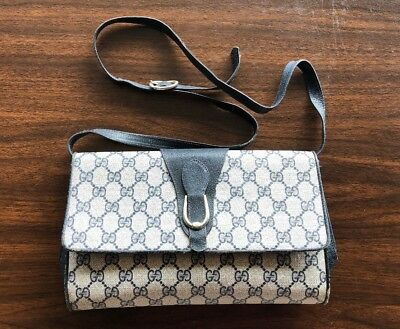 2c65e8fab551e2 Vintage Monogram Gucci Accessory Collection Crossbody Bag Purse Tote Hand