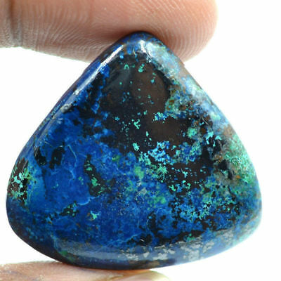 Cts. 57.75 Natural Azure Color Azurite Cabochon Pear Cab Loose Gemstone