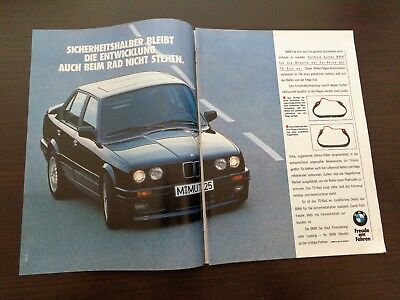 BMW 3er / Werbeanzeige Reklame 1989 advertisement print ad / W4933