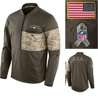 super popular 3c6b2 75d00 NIKE NFL MEN'S Salute to Service Hybrid Jacket Dallas Cowboys Miami  Dolphins NWT