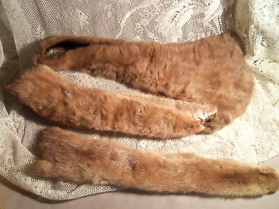 Vintage 2 Mink Collars + Extra Mink Pelt-For Projects