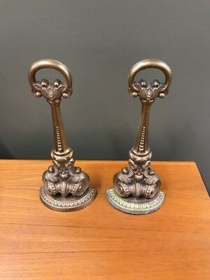 Vintage Chinese Asian Bookends Brass Bronze Library or use as Doorstops 14""
