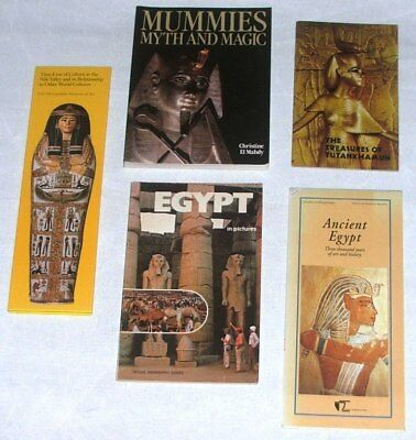Collection of 4 Books on Egypt & Map Ancient Egypt