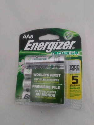 Energizer AA Universal Recharge  8 batteries. Fast Shipping!