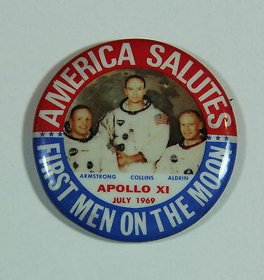 Apollo 11 XI First Men On The Moon NASA Pinback Button
