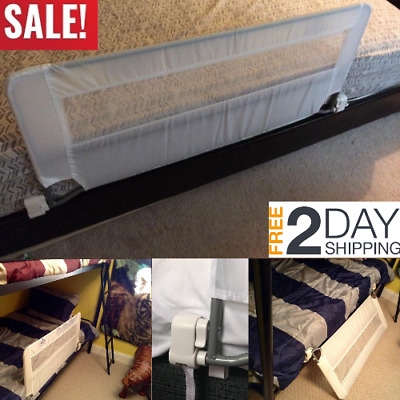 """Fold Safety Security Single Bedrail Bed Rail Crib Toddler Elderly Swing Down 43"""""""